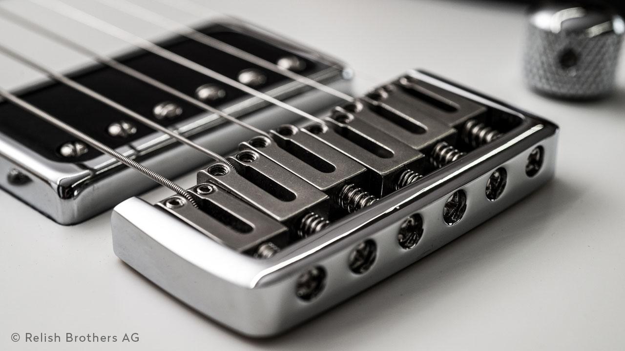 Relish Guitars Switzerland Bridge Design. Qualitative E-Gitarre.